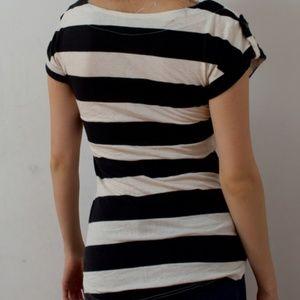 Joyce Leslie Tops - Used Striped Cap-Sleeve T-Shirt